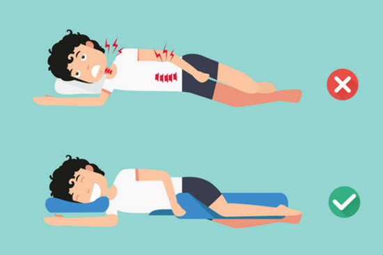 Thay đổi gối ngủ và tư thế ngủ giúp khắc phục đau cổ sau khi ngủ dậy
