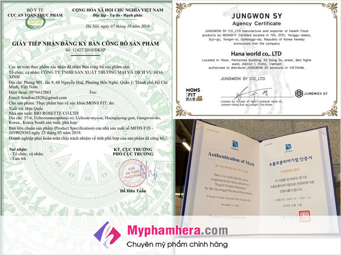 giấy chứng nhận siro giảm cân monsfit-thaoduockhoe.com