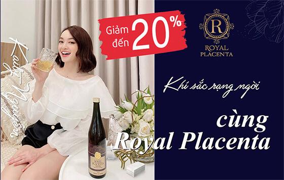 khuyến mãi quà tặng nước uống đẹp da Royal Placenta-thaoduockhoe.com