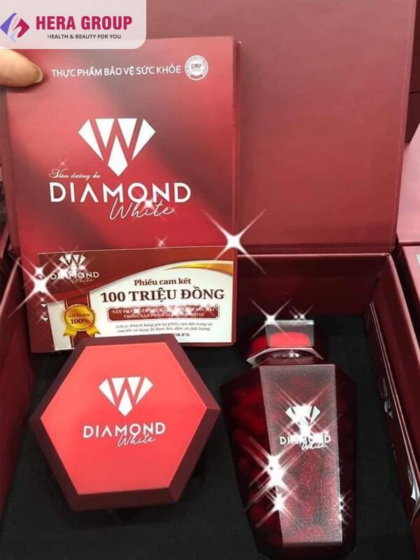 phiếu cam kết viên uống trắng da diamond white-thaoduockhoe.com