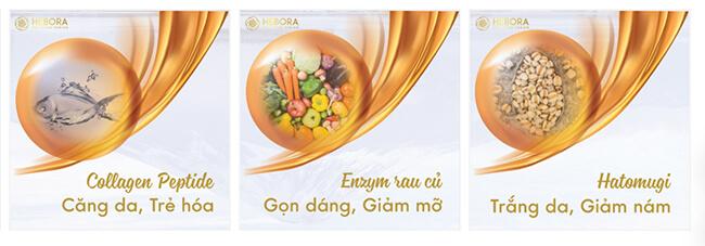 thành phần nước uống collagen hebora-thaoduockhoe.com