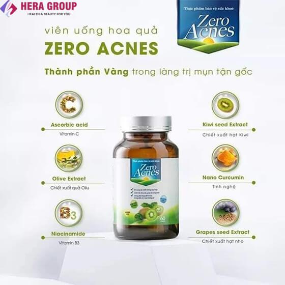 thành phần viên uống hoa qua zero acnes-thaoduockhoe.com