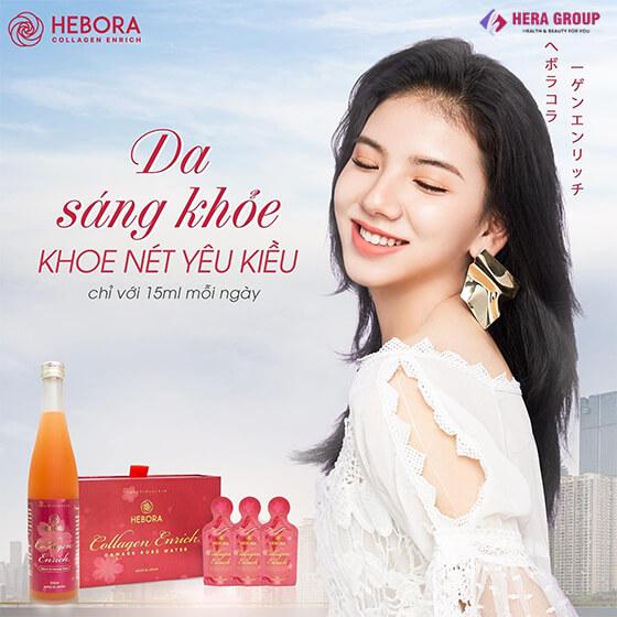 công dụng nước uống collagen hebora dạng túi-thaoduockhoe.com