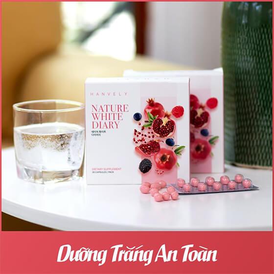 cách sử dụng viên uống trắng da nature white diary-thaoduockhoe.com