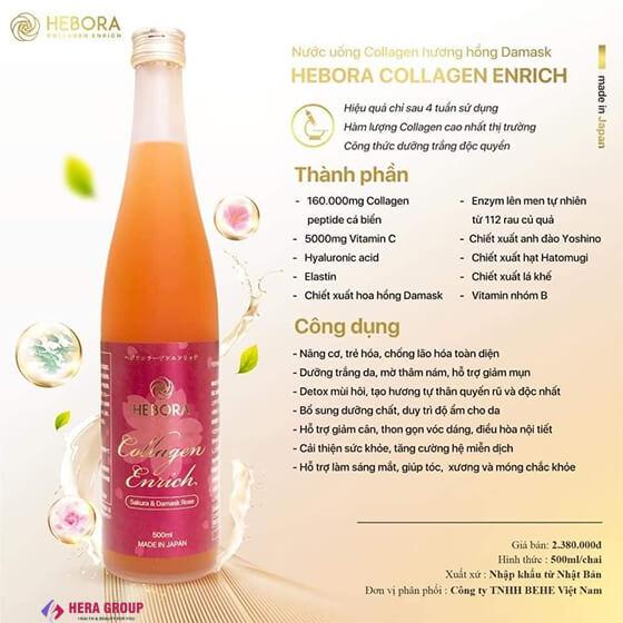 thành phần nước uống collagen hebora có tốt không-thaoduockhoe.com