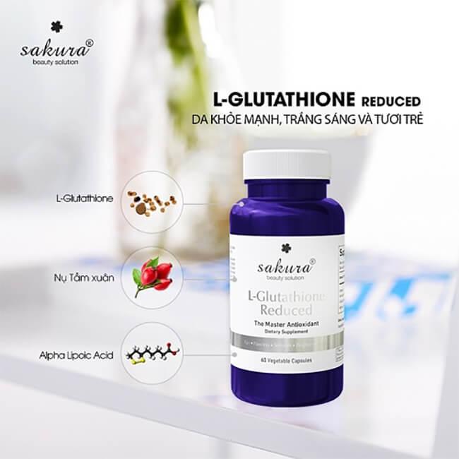 thành phần viên uống trắng da sakura-glutathione-thaoduockhoe.com