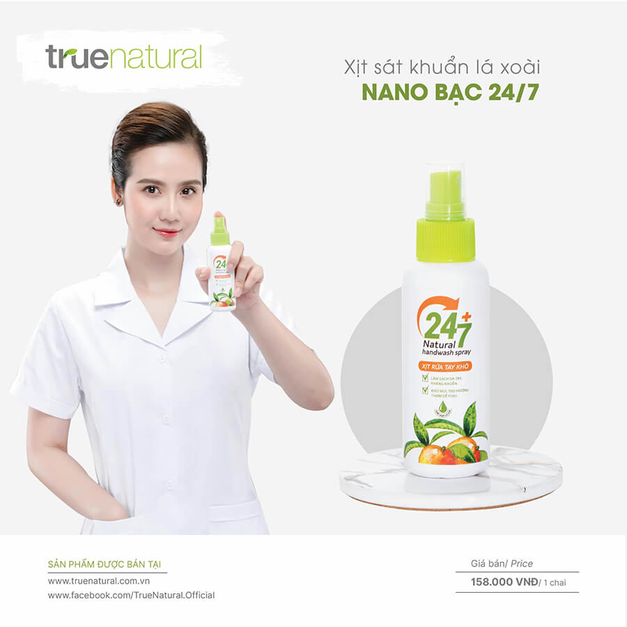 Avata Xịt rửa tay khô lá xoài nano bạc 24/7-Thaoduockhoe.com